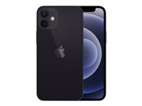 "Apple iPhone 12 mini - Smartphone - dual-SIM - 5G NR - 64 GB - 5.4"" - 2340 x 1080 pixlar (476 ppi) - Super Retina XDR Display (12 MP främre kamera) - 2 bakre kameror - svart MGDX3QN/A"